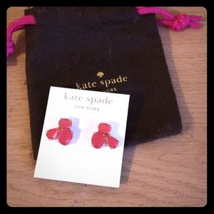 Kate spade earrings coral peach